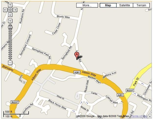 Horsham Chess Club map