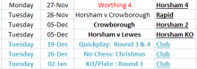 List of Horsham matches