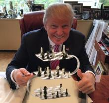 Trump with 4d chess