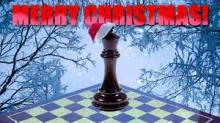 Merry xmas with chess piece